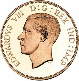 Picture of Canada, Edward VIII Bare Head Dollar Patina Copper
