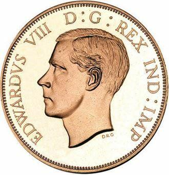 Picture of Canada, Edward VIII Bare Head Dollar Patina Copper