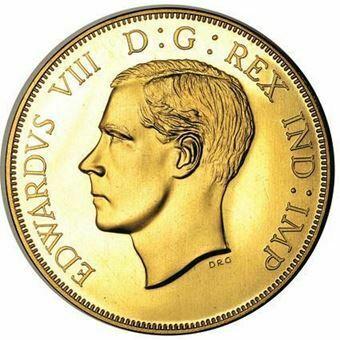 Picture of Canada, Edward VIII, Bare Head Dollar Patina Goldine/Bronze