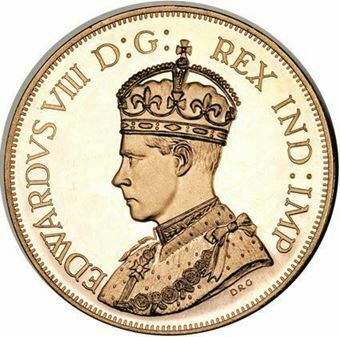 Picture of Canada, Edward VIII, Dollar Patina Crowned Bust Copper