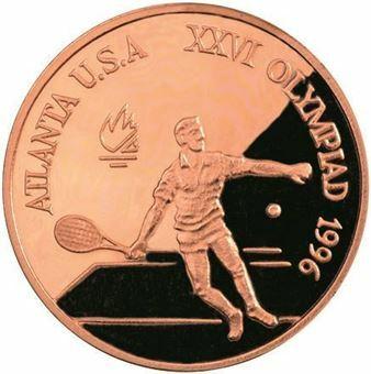 Picture of Romania, Tennis Copper Piedfort