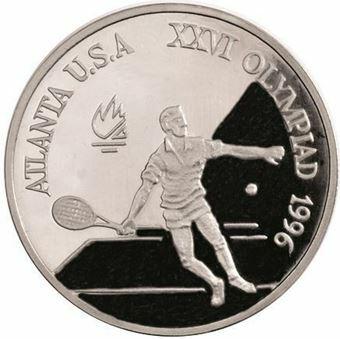 Picture of Romania, 1996 Olympic Tennis Aluminium Piedfort