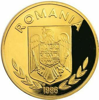 Picture of Romania, 1996 Olympic Tennis Brass Piedfort