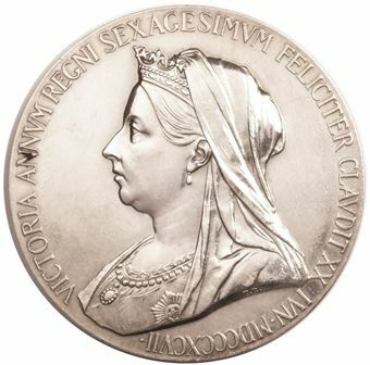 Picture of Victoria, 1897 Large Silver Medallion Extremely Fine