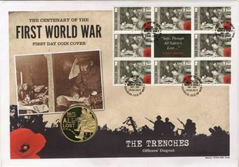 Picture of First World War Centenary Coin Cover  - Training