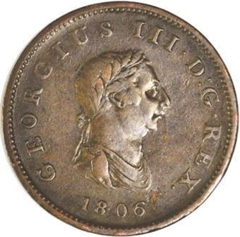 Picture of George III, Halfpenny Fine, 1806