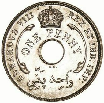 Picture of British West Africa, Edward VIII, Penny Error KN Mint, 1936