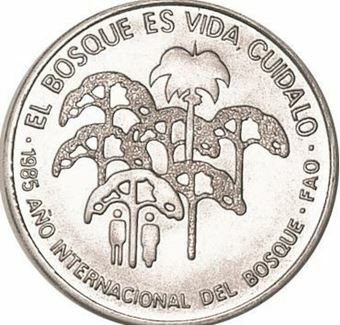 Picture of Cuba, 1 Peso 1985 Bosque FAO CN Unc