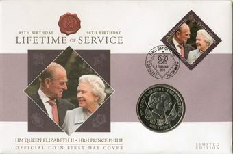 Picture of Isle of Man (Queen Elizabeth II & Prince Philip) Crown Cover