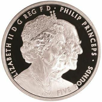 Picture of Elizabeth II, £5 Wedding Platinum Proof, 2017