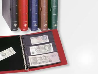 Picture of Lighthouse Banknote Album RED + Pages