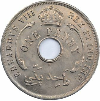 Picture of British West Africa, Edward VIII, Penny, Error H Mint, 1936