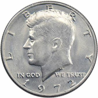 Picture of United States of America, 1972 Kennedy Half Dollar Unc