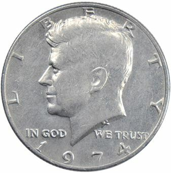 Picture of United States of America, 1974 Philadelphia Kennedy Half Dollar Unc