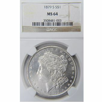 Picture of United States of America, 1879 'S' Morgan Silver Dollar, Choice BU
