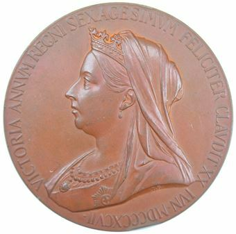 Picture of Victoria, 1897 Large Bronze Medallion Extremely Fine