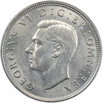 Picture of George VI, Halfcrown 1945