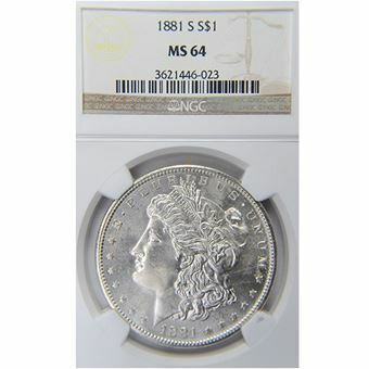 Picture of United States of America, 1881 'S' Morgan Silver Dollar Choice BU