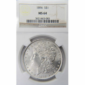 Picture of United States of America, 1896 Morgan Silver Dollar, Choice BU / MS64