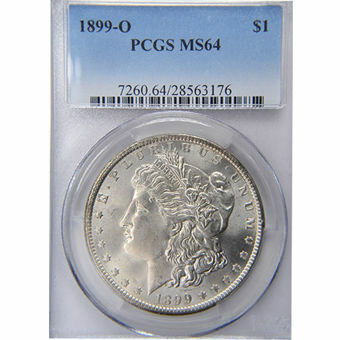 Picture of United States of America, 1899 'O' Morgan Silver Dollar, Choice BU / MS64
