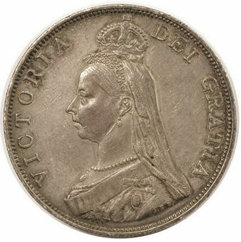 Picture of Victoria, Double Florin 1887-1890 Extremely Fine