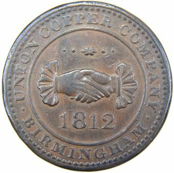 Picture of Warwickshire, Birmingham, Penny 1812