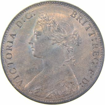 Picture of Victoria, 1/2 Penny, 1875