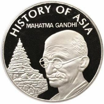 Picture of Cook Islands, Crown Size $1 (Mahatma Gandhi) 2004