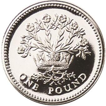Picture of Elizabeth II, £1 1986 Silver Proof Piedfort