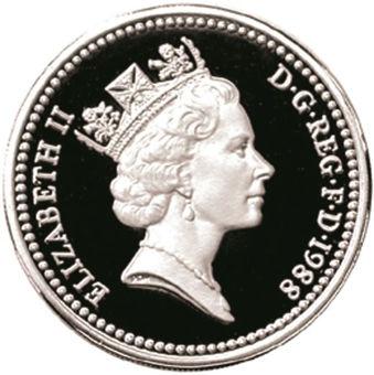 Picture of Elizabeth II, £1 1988 Silver Proof Piedfort