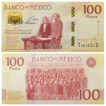 Picture of Mexico 100 Pesos 2017 Constitution Commemorative Unc