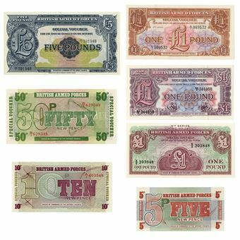 Picture of Set of 7 Different British Military Notes