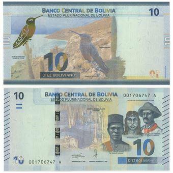 Picture of Bolivia 10 Bolivianos 2018 P248 Unc