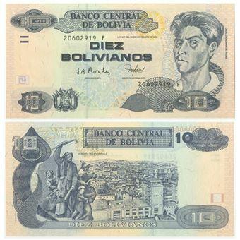 Picture of Bolivia 10 Bolivianos P243 Unc