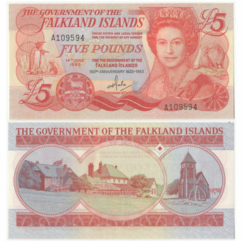 Picture of Falkland Islands £5 1983 P12 Unc
