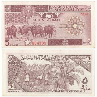 Picture of Somalia 5 Shillings P31 Unc