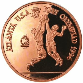 Picture of Romanian Basketball Copper Piedfort