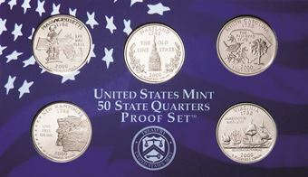 Picture of USA 2000 Quarter Set Clad Proof S