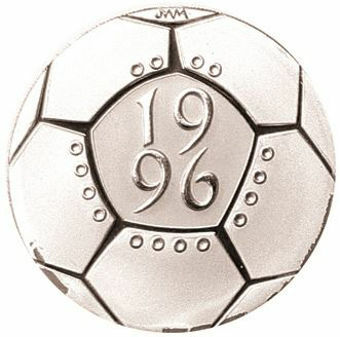 Picture of Elizabeth II,  £2 UEFA Euro 1996Silver Proof