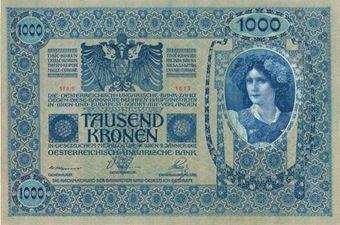 Picture of Austria 1000 Kronen Nd (1919) P59 GEF/Unc