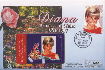 Picture of Diana FDC & Phonecard