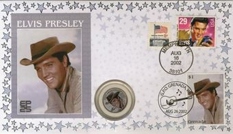 Picture of Elvis Coin Cover in Cowboy Hat