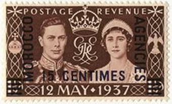 Picture of George VI Coronation Morocco 100 Stamps