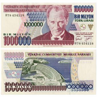 Picture of Turkey 1 Million Lirasi (1995) P209 Unc