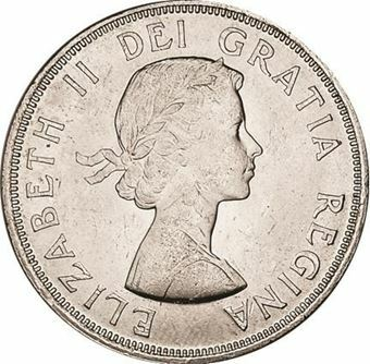 Picture of Canada, Charlottetown Silver Dollar, 1964