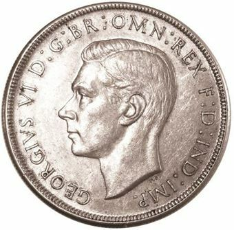 Picture of Australia, George VI Crown Very Fine, 1937