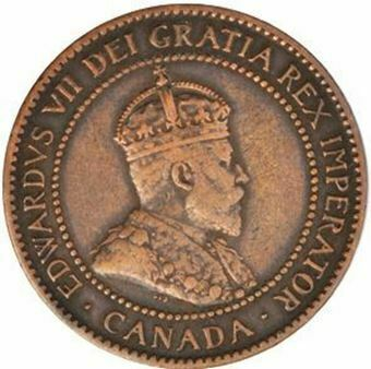 Picture of Canada, Edward VII Large Cent