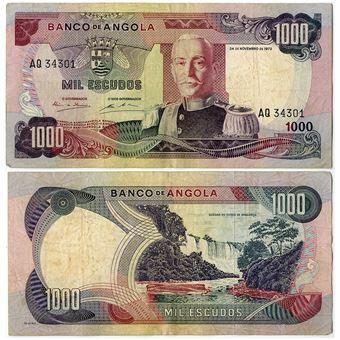 Picture of Angola 1000 escudos 1972 P103 VF
