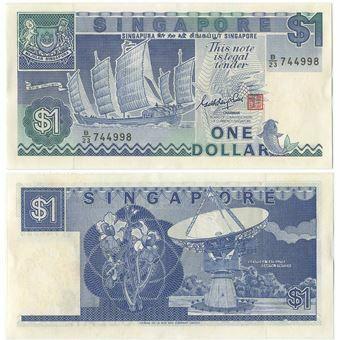 Picture of Singapore 1 Dollar 1987 P18 Unc