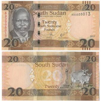 Picture of South Sudan 20 S Sudanese Pounds 2015/17 P13  Unc